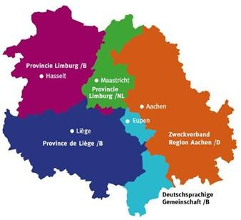 Euroregion of Meuse-Rhine map